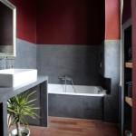La salle de bains en Béton Cire